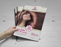 Hair Salon Style Bifold Trifold Brochure & Flyer