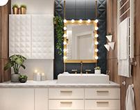 Geometric Comfort /дизайн-проект ванной комнаты/