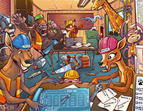 Construction Animals Children's Book
