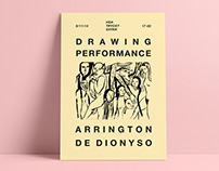 Poster - Arrington de Dionyso - Drawing Performance