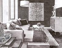 Interior Rendering: Value Study