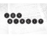 Joy Birgit, Copywriter / Branding & Website