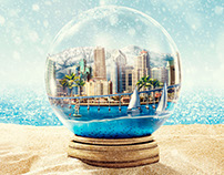 San Diego Snow Globe