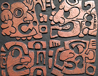 Totem Stela Ceramic Sculpture