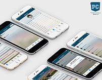 Pocket Campus iOS app Logo and UI Design