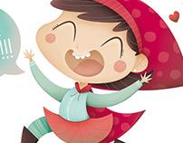 Rita la Caperucita. Ilustración infantil