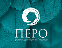 "Logo for photo studio ""Перо"""