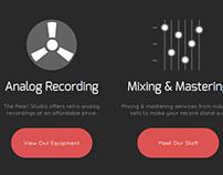 Freelance Site Redesign | The Pearl Recording Studio