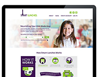 Smart Lunches Website Signup Design