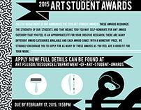 Art Student Awards Poster // Dept. of Art, FSU