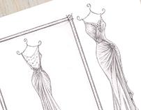 'Clare' - Wedding Dress Illustration