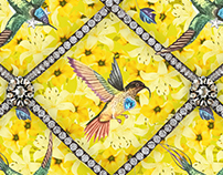 Pattern design Bling Birds 5 Edouard Artus ©2017