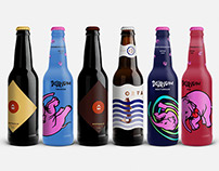 BELGIAN BEERS LABELS REDESIGN