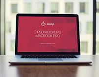3 PSD Mockups MacBook Pro