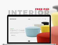 Interior – Multi-Purpose Store PSD Template Freebie