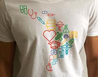 T-shirt logo design contest winner for the ALAS