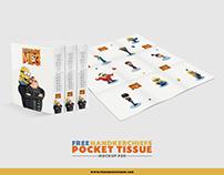 Free Handkerchiefs Pocket Tissue Mockup PSD