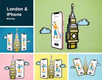 London & iPhone Mockup