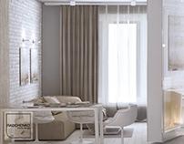 White loft interior