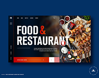 Free Food & Restaurant Landing Page Template