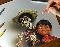 My drawing for Coco the Movie