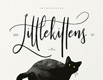 Little Kittens Typeface - Free Vector