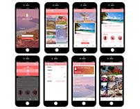 Interactive Travel App Design