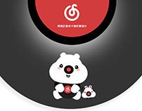 Netease Cloud Music  mascot design 网易云音乐卡通形象设计——黑胶嘟嘟
