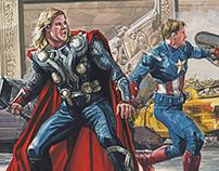 Avengers Gouache Study