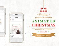 ANIMATED Christmas Posts – Metallic Style