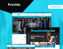 Provide - Professional Business Consulting Finance HTML