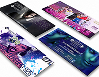 Дизайн афиш для Serebro (event poster design)