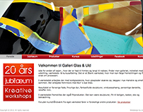 Web design - Arts & Crafts Gallery, DK