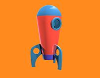 Modelagem e Animação 3D - Foguete