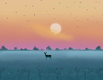 Oh colors.! Landscape digital illustration