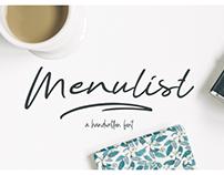 Menulist Typeface (Free Font)
