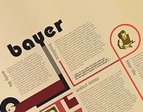 Herbert Bayer Bauhaus Layout & Type Project