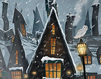 Hogsmeade Travel Poster