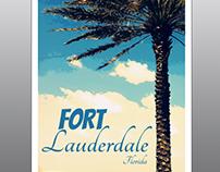 Fort Lauderdale Travel Poster