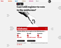 Can I still register to vote in the midterms?