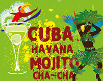 Cuba Havana mojito graphic design vector art