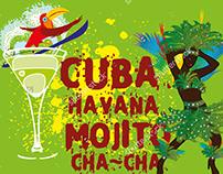 Cuba Havana mojito graphic design vector art