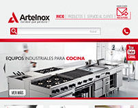 Arteinox logo and Web Design