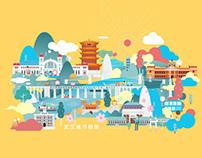武汉城市插画设计