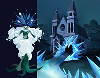 Chill Willed   Concept Art   Snow Queen revamped in 80s