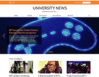 RIT University News Redesign | Web Design