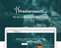Freshersworld.com landing page redesign