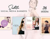 36 Free Subtle Social Media Banners