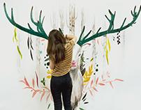 Mural // Deer painting