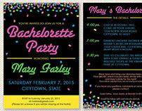 Neon Confetti Bachelorette Invite